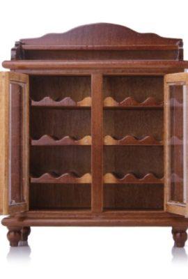 112-Puppenhaus-Miniaturen-Wohnzimmer-Mbel-aus-Holz-Weinklimaschrank-Walnuss-0