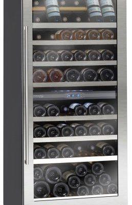 Avintage-PRO116XDZ-Weinklimaschrank-2-Zonen-Einbau-Edlestahlrahmenglastr-0
