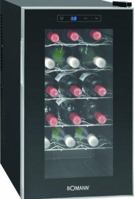Bomann-KSW-345-Weinkhlschrank-Freistehend-B-189-kWhJahr-636-cm-18-Flaschen-elektronische-Temperatursteuerung-und-einstellung-schwarz-0