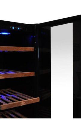 Klarstein-Design-Weinkhlschrank-Getrnkekhlschrank-Weinklimaschrank-mit-Glastr-fr-bis-zu-120-Flaschen-270-Liter-5-bis-22C-Aktivkohlefilter-schwarz-0-1