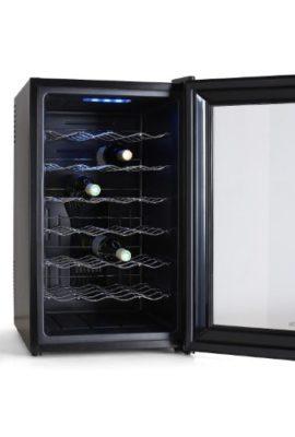 Klarstein-Design-Weinkhlschrank-Getrnkekhlschrank-schwarz-Glas-Touchpad-Steuerung-LED-Illumination-28-Flaschen-0