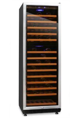 Klarstein-Gran-Reserva-Design-Weinkhlschrank-groer-Khlschrank-fr-Wein-EEK-A-Weinkhler-fr-180-Weinflaschen-13-Regal-Einschbe-Glastr-LED-Innenbeleuchtung-schwarz-0