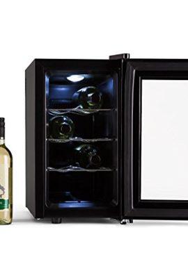 Klarstein-Reserva-Piccola-Weinkhlschrank-freistehend-Getrnkekhlschrank-mit-Glastr-Minibar-mit-LED-Beleuchtung-und-Touch-Bedienung-25-Liter-8-075L-Flaschen-Khlschrank-8-18-C-155kWhJahr-schwarz-0