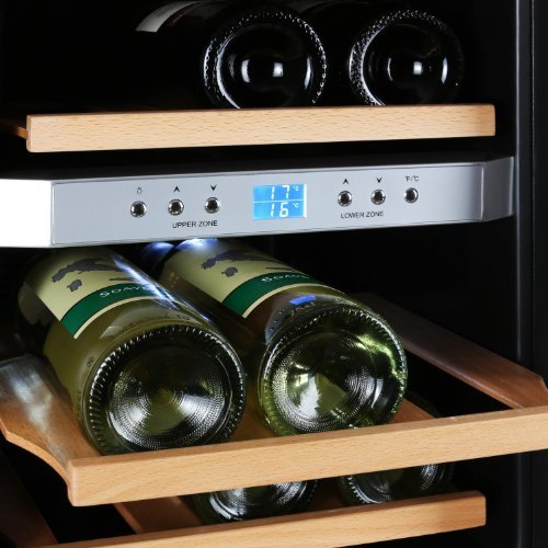 Klarstein Weinkühlschrank klein 2 Zonen Getränkekühlschrank mit ...