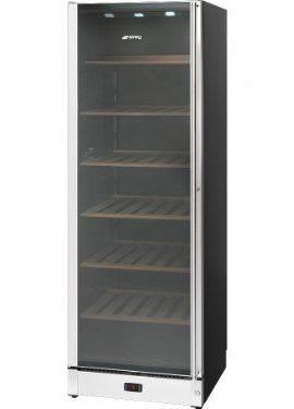 Smeg-SCV115S-1-Wein-Klimaschrank-B-Edelstahl-Glas-Linksanschlag-Nutzinhalt-368-Liter-Platz-fr-198-Flaschen-075-l-Zwei-Temperaturbereiche-0