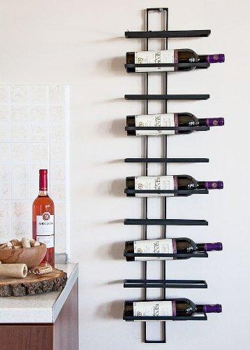 Weinregal dies 116cm aus metall f r 10 flaschen flaschenst nder wandregal wein fein - Porta vino da parete ...