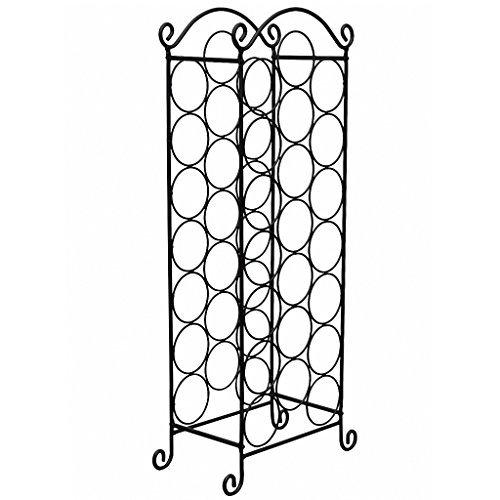 weinregal flaschenregal flaschenst nder 21 flaschen metall. Black Bedroom Furniture Sets. Home Design Ideas