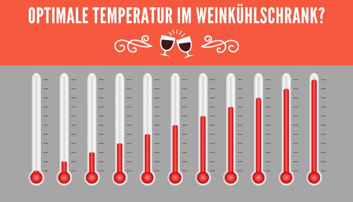 Optimale Temperatur im Weinkühlschrank