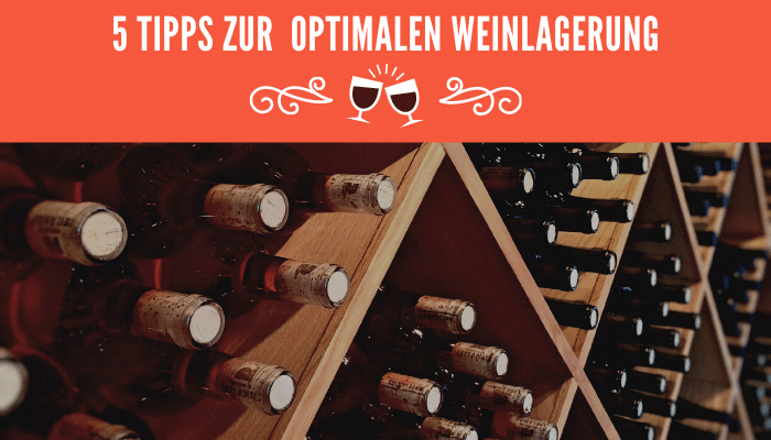 optimalen Weinlagerung